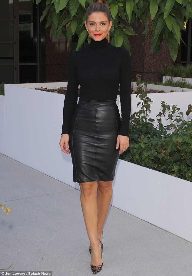 Maria Menounos turns heads with tight leather skirt and bold ... 5d65fded40b