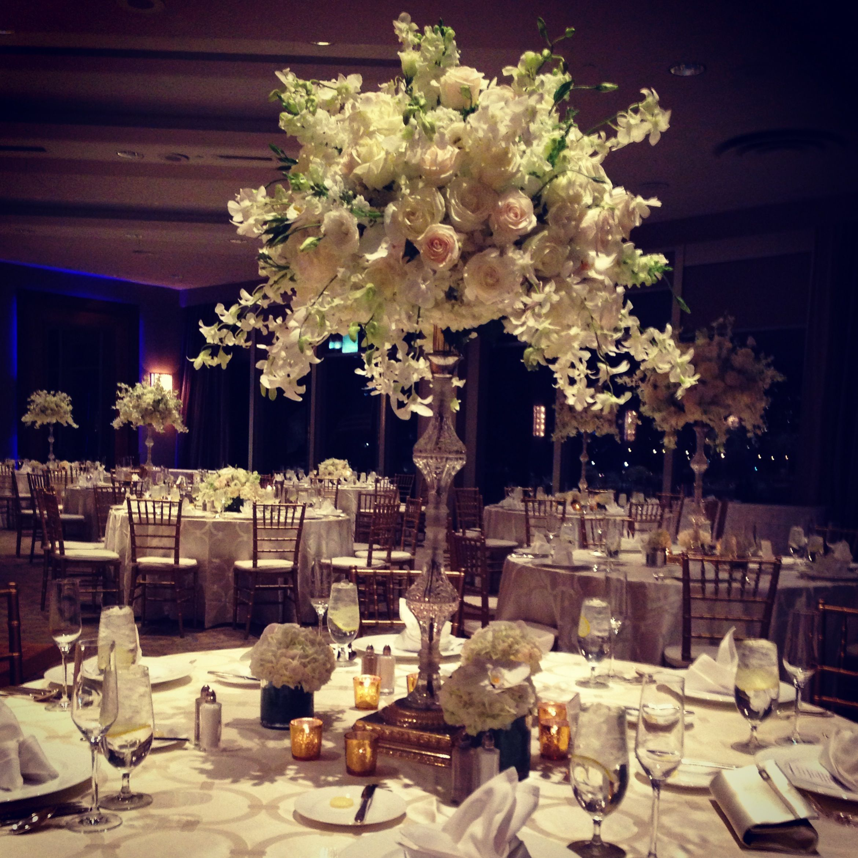 Wedding Centerpiece At The Royal Sonesta Hotel Boston Elegant