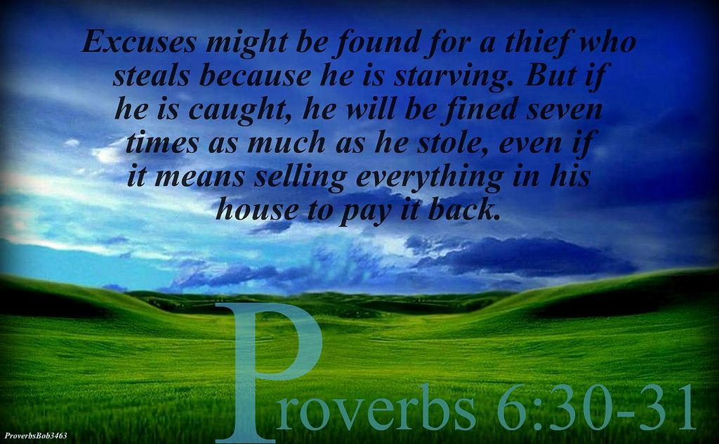 proverbs 6:30-31 - Google Search | Knowledge and wisdom, Life words, Wonderful words