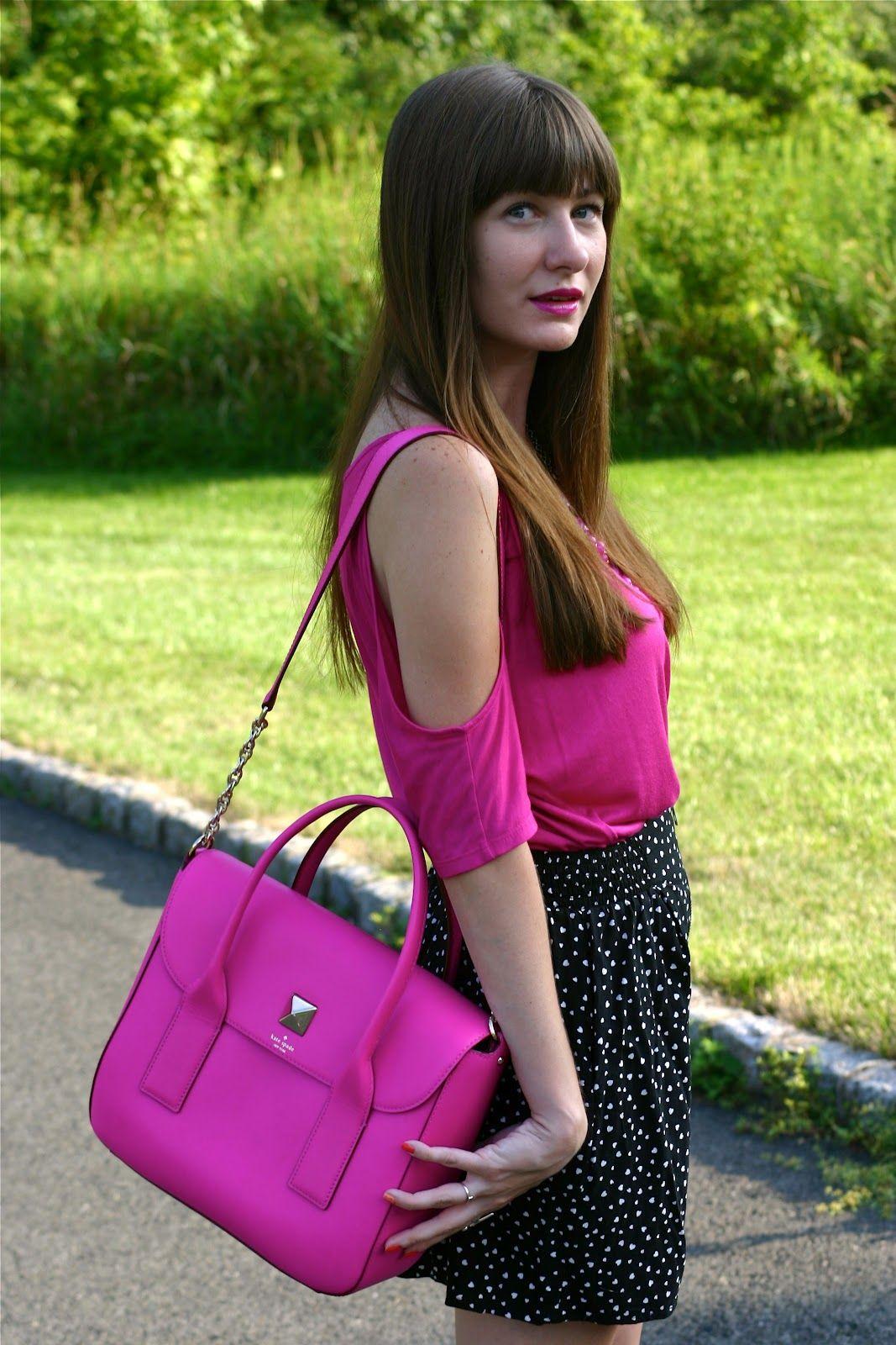 @kate spade new york New Bond Street Florence bag. Love! #handbags #bags #neon #pink #style #fashionbloggers