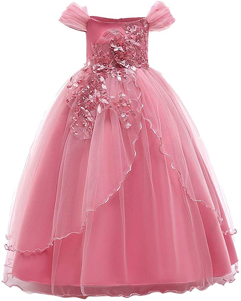 Flower Girl Dress Princess Party Wedding Bridesmaid Formal Pageant Long Dresses