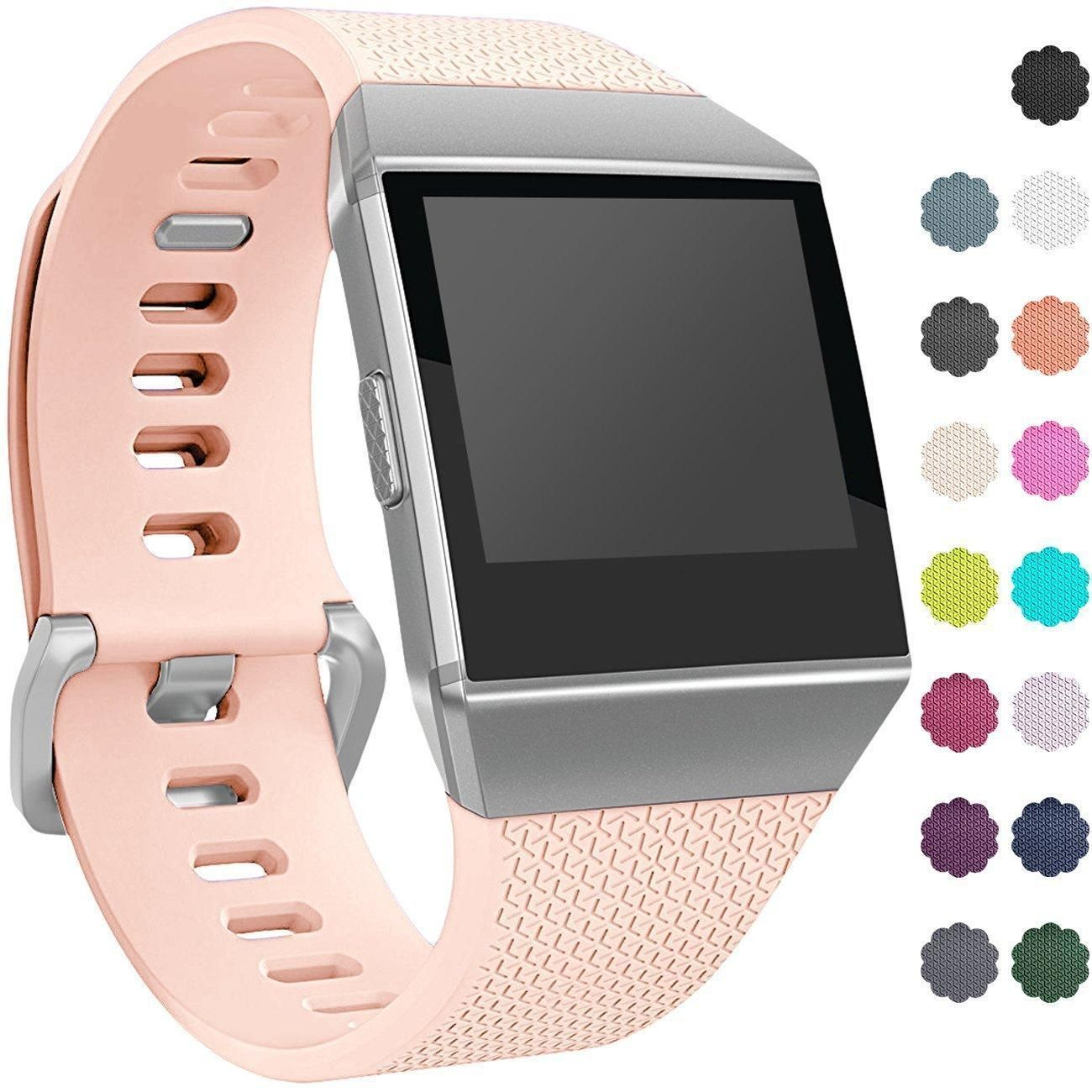 226ec4842263c BLUSH PINK New Small Replacement Wristband Strap Band Bracelet For FITBIT  IONIC | eBay