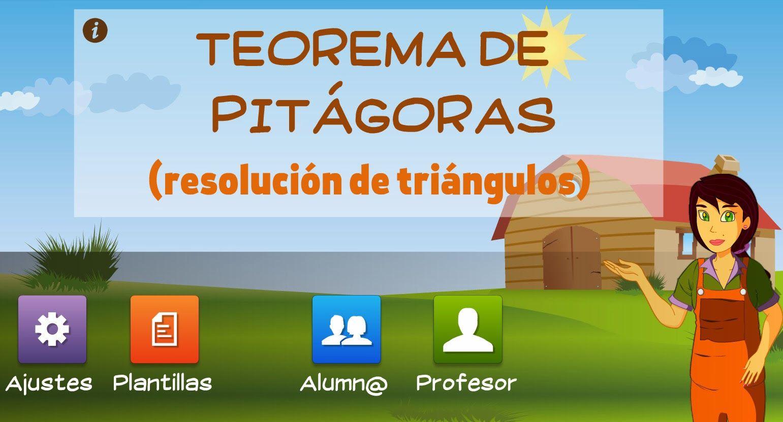 teorema de pitagoras   SOFTWARE EDUCATIVO   Pinterest   Ejercicios ...