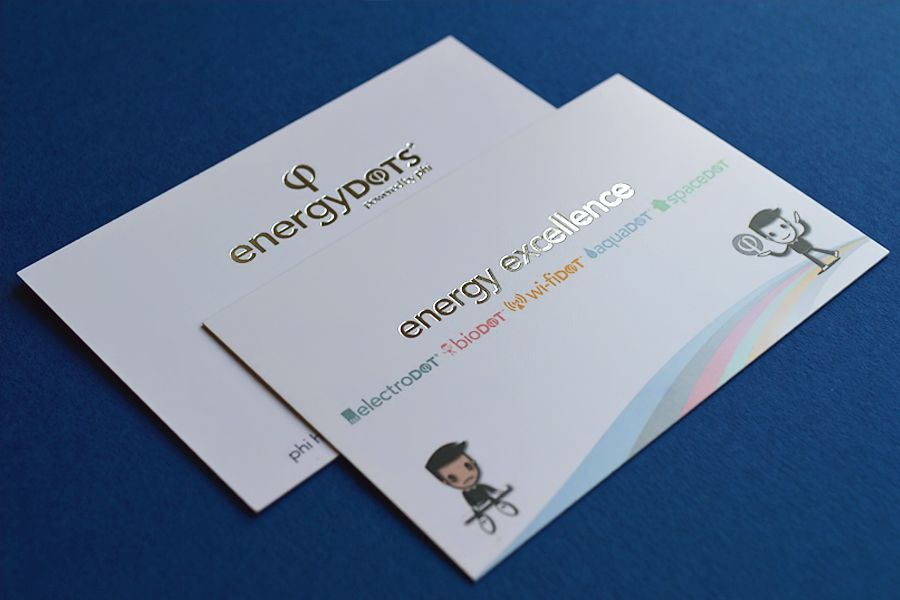 We ship our matt laminated business cards in the UK and ...