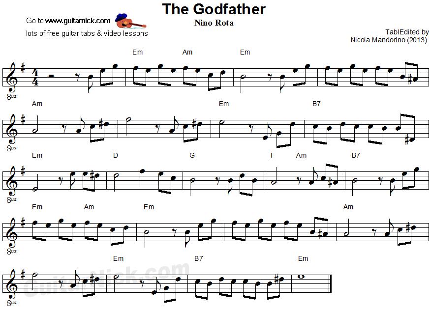 The Godfather Guitar Sheetg 874629 Beautiful Themes