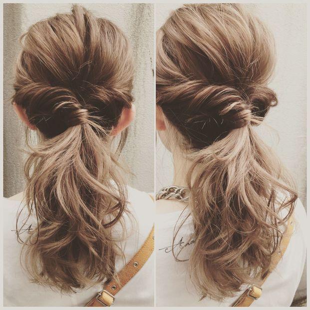 オフィスでも 恋髪 毎日できる簡単レングス別ヘアアレンジ 髪型
