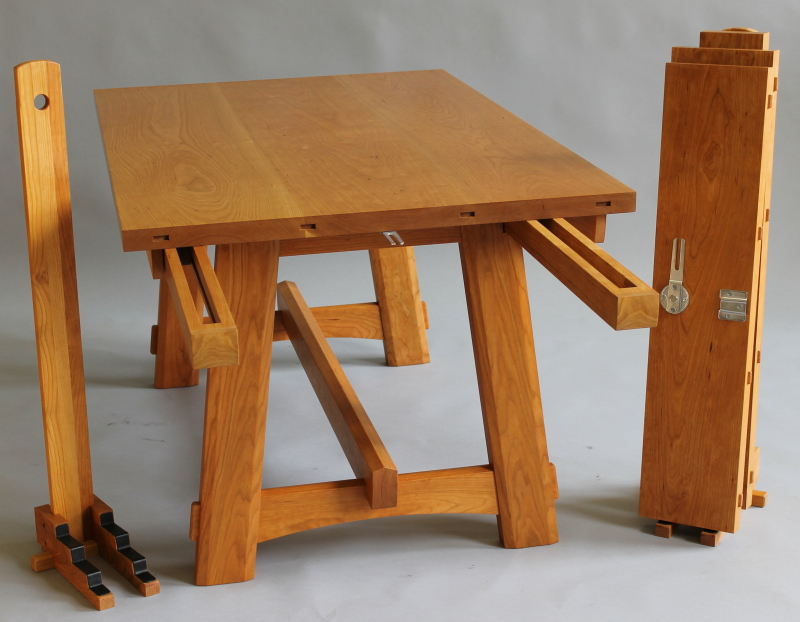 Cambridge Table Showing Extension Slides Leaves And Leaf Stand
