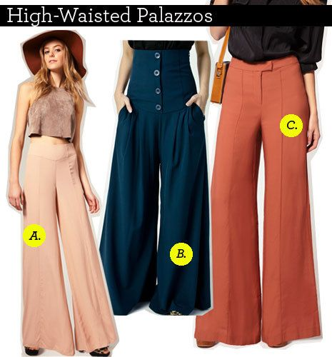 highwaisted_std A. Palazzo Pants, asos, approx. RM85 B. High ...