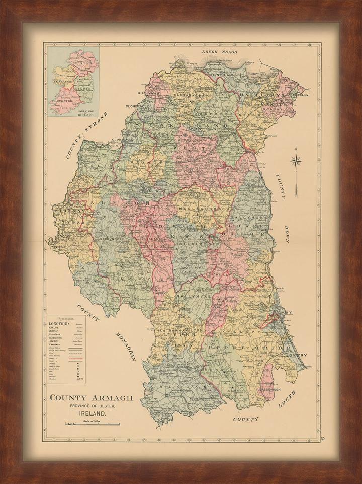 County Armagh Ireland Map.County Armagh Ireland 1901 Irish Pinterest Armagh Ireland