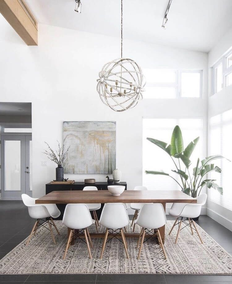 All Of The Elements In The Dining Room Have Contemporary Shapes