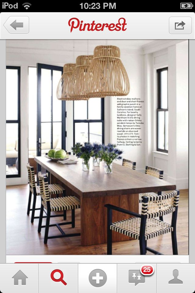 Gorgeous table and pendants Home - Living and Dining Pinterest