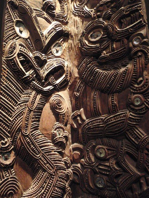 ancient maori wooden tiki ancient places and primitive