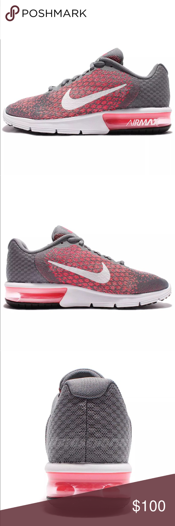 88730203771406 🍄Nike Wmns Nike Air Max Sequent🍄 🍄Wmns Nike Air Max Sequent 2 II Grey  Pink 🍄Women Running Shoes Sneakers 👟 Size 7.5 Nike Shoes Sneakers