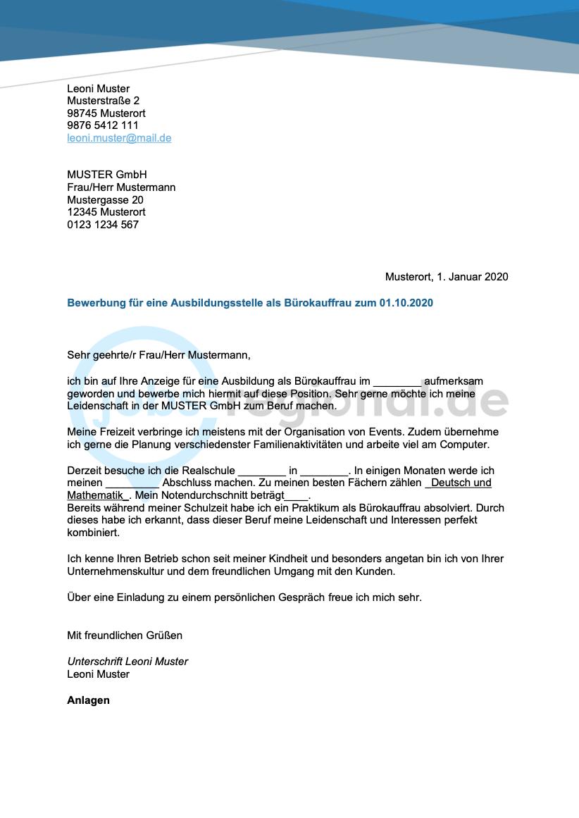 Bewerbungsanschreiben Burokaufmann In 2020 Bewerbung Anschreiben Bewerbung Anschreiben
