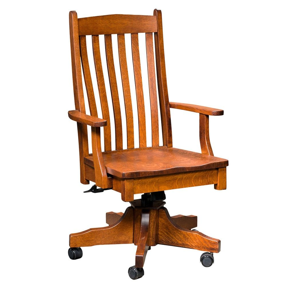Liberty Desk Chair Chair Most Comfortable Office Chair Amish Furniture