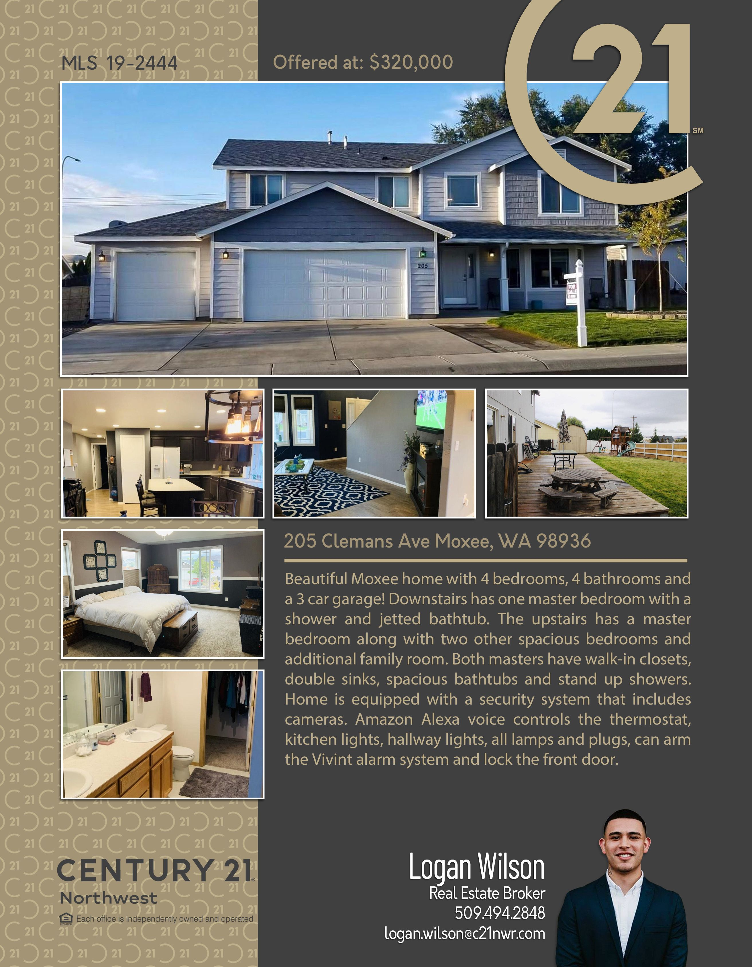 Newactive Beautiful Moxee Home With 4 Bedrooms 4 Bathrooms And A 3 Car Garage Downstairs Has One Master Bedroom With A Sh Jetted Bath Tubs Spacious Mansions