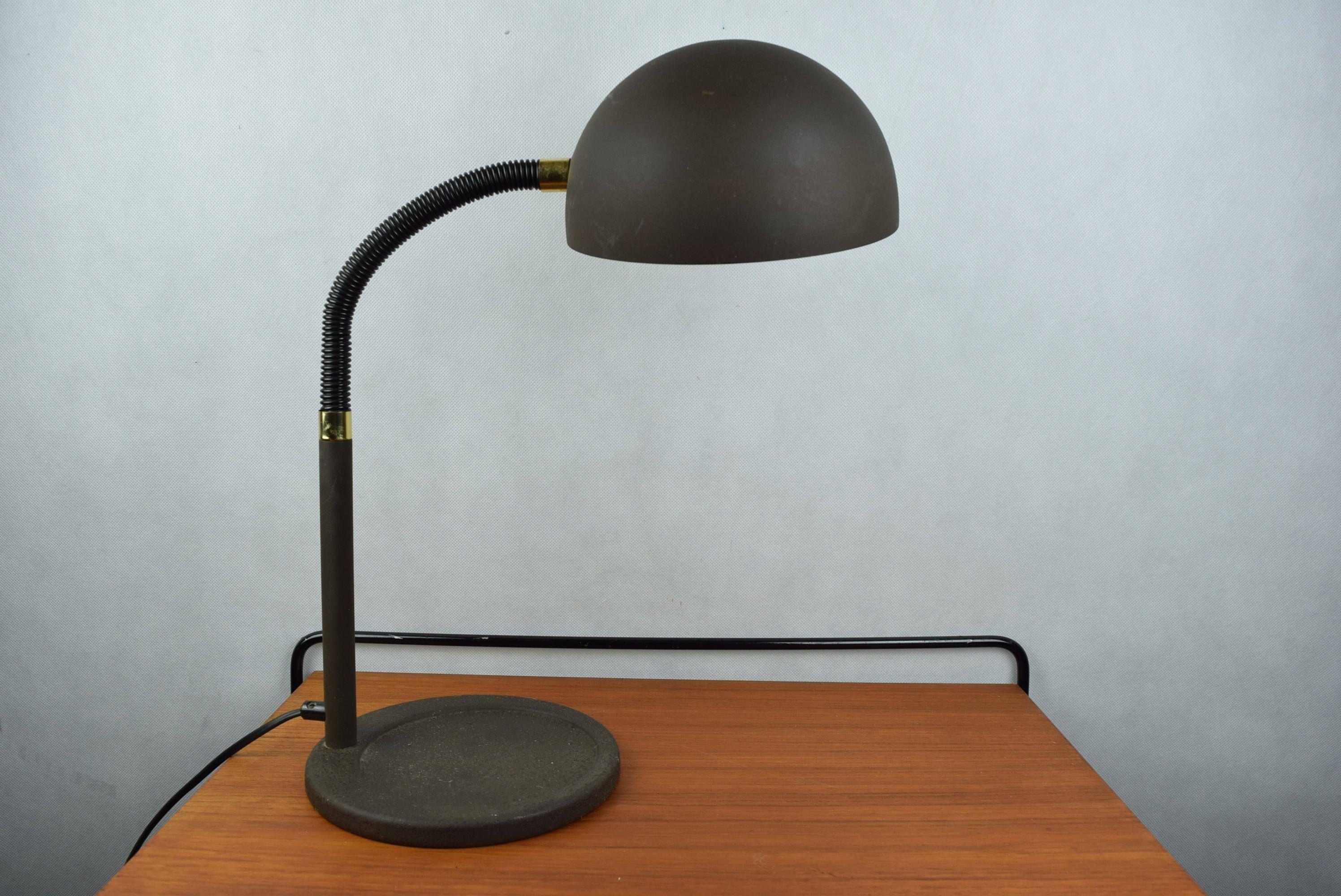 70er Jahre Schreibtsichlampe von Hillebrand Leuchten, Schwanenhals ...
