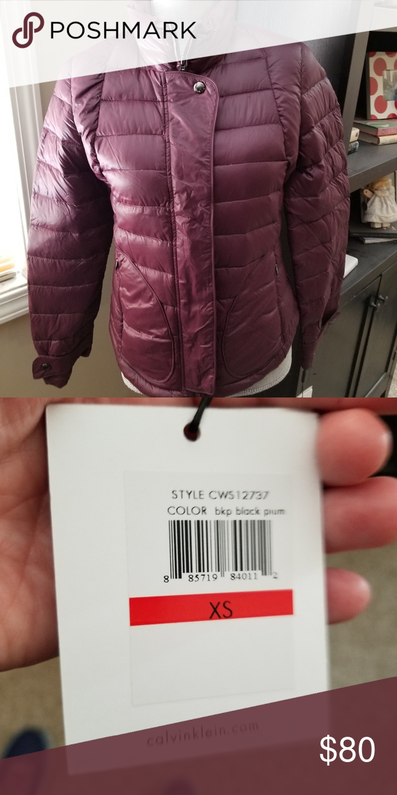 8654036f0f6 Calvin Klein packable down jacket with pouch xs Size xs packable down  jacket with pouch. Has zipper and buttons. No hood. Calvin Klein Jackets &  Coats