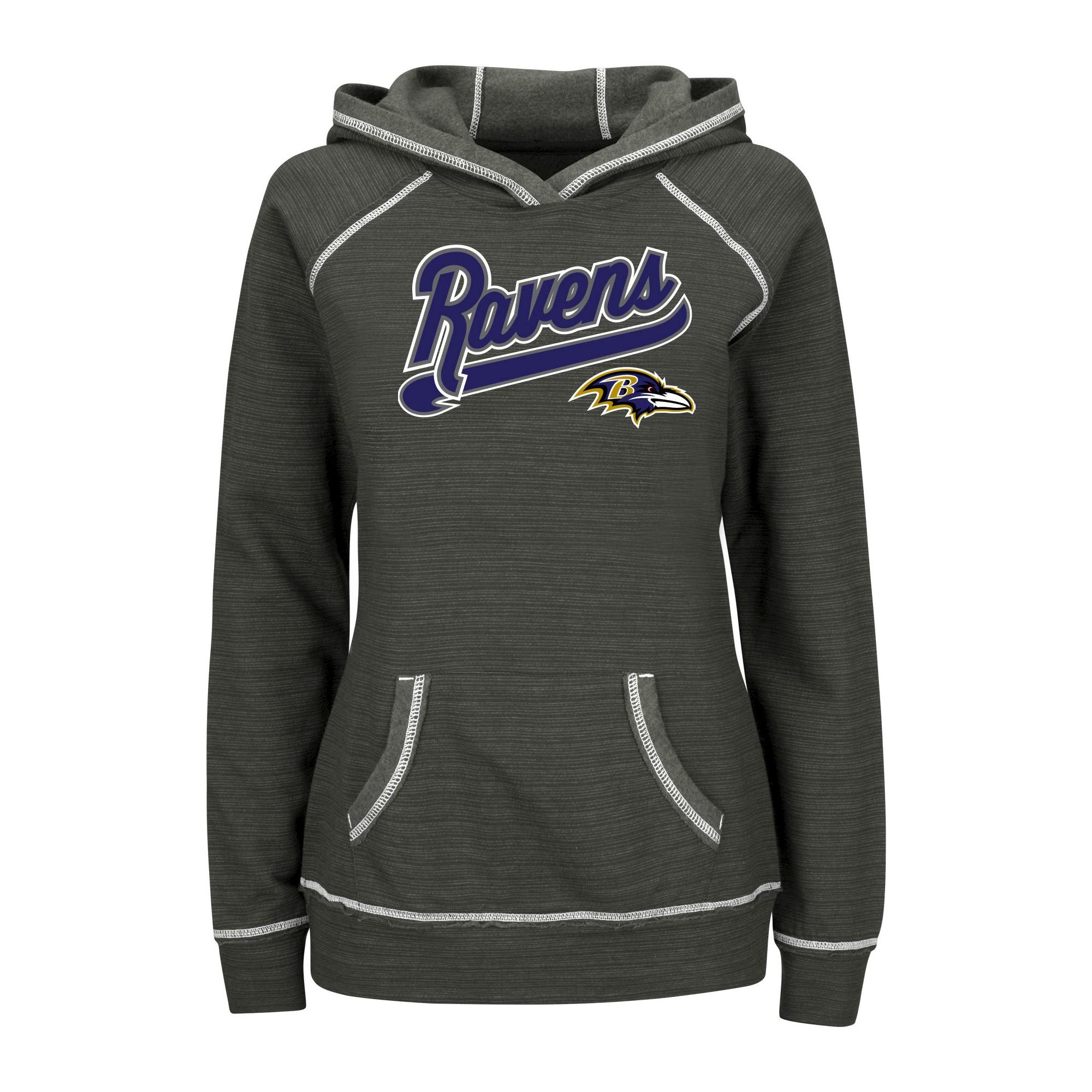 5092f225 Baltimore Ravens Women's Fleece Pullover Hoodie Sweatshirt S, Size ...