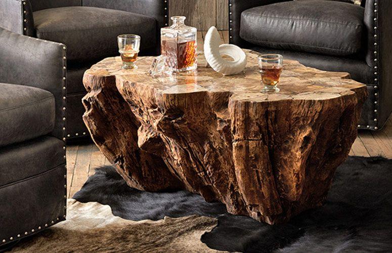 Petrified Wood Coffee Table Wood Coffee Table Rustic Wood Coffe