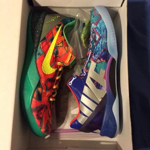 What the Kobe 8 Brand new, with OG box and extra laces. I think I still have the nike.com receipt but haven't found it yet, will trade Nike Shoes