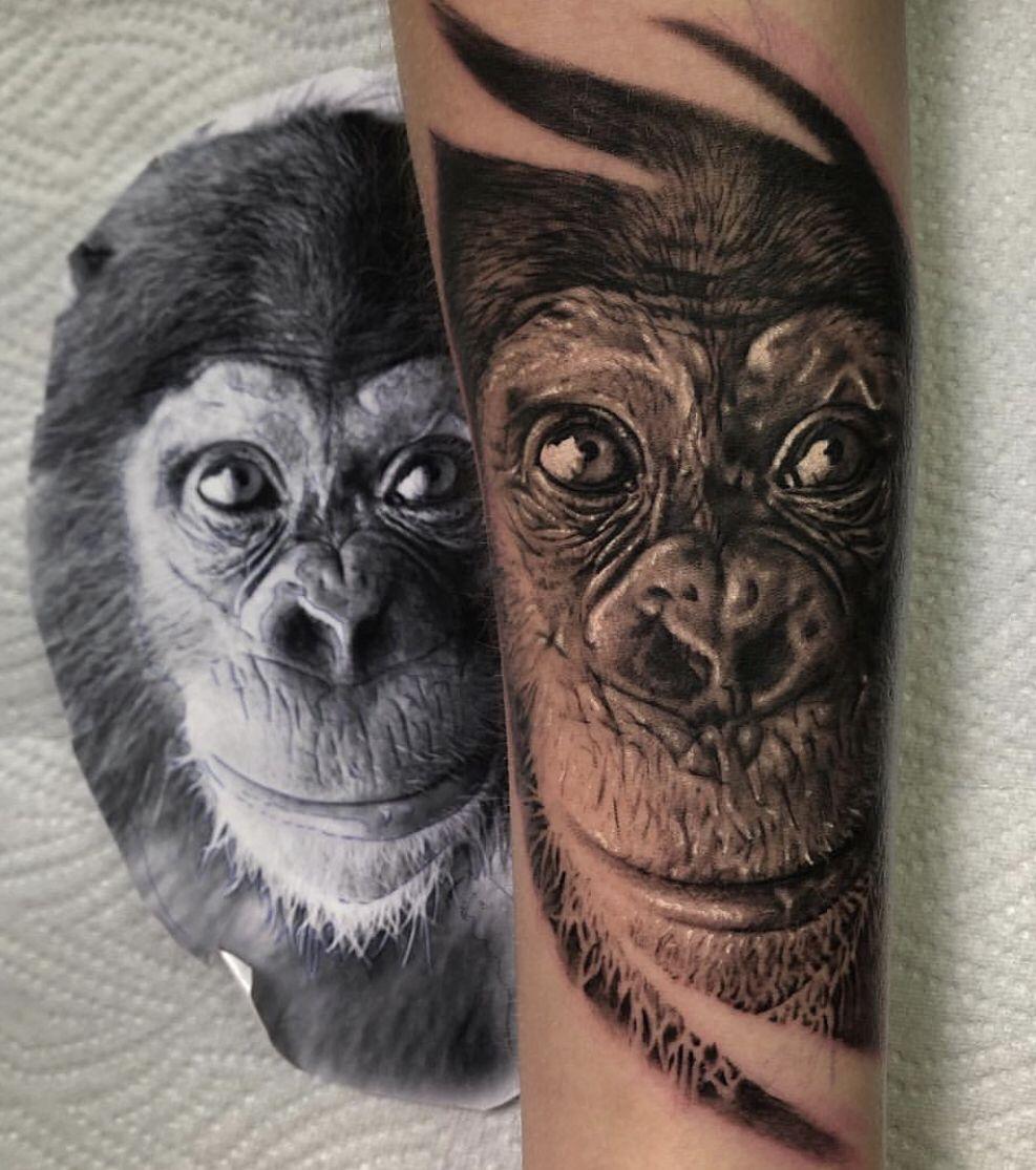 ape affe chimpanzee monkey tattooanansi.de beautiful black