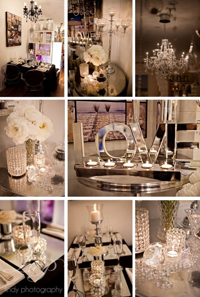 Glam wedding. Modern Glamour wedding with crystals, mirrors ...