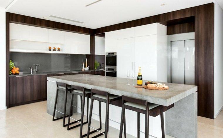 Béton ciré pour plan de travail de cuisine  25 idées modernes - installation plan de travail cuisine