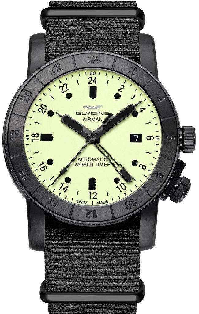 Glycine Watch Airman 42 Pre Order Add Content Basel 17 Bezel Bidirectional Bracelet Strap Synthetic Br Glycine Watch Watches For Men Mens Watches Engraved