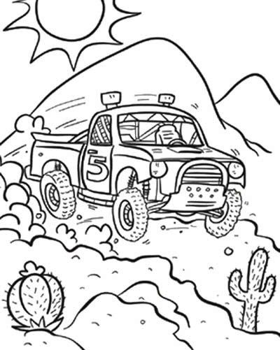 Off Road Race Truck Coloring Page Off Road Car Car Coloring