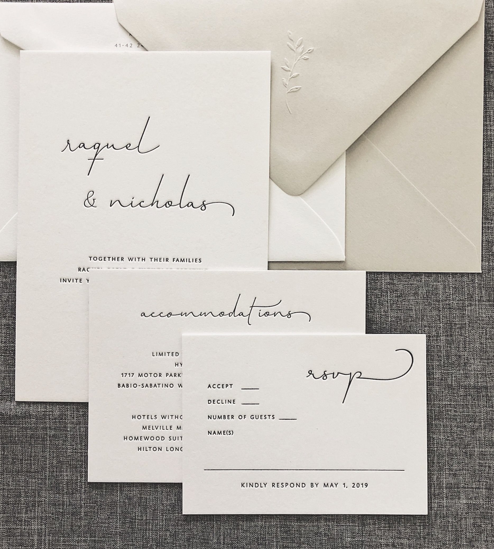 Save the Dates/Invitations | August + White