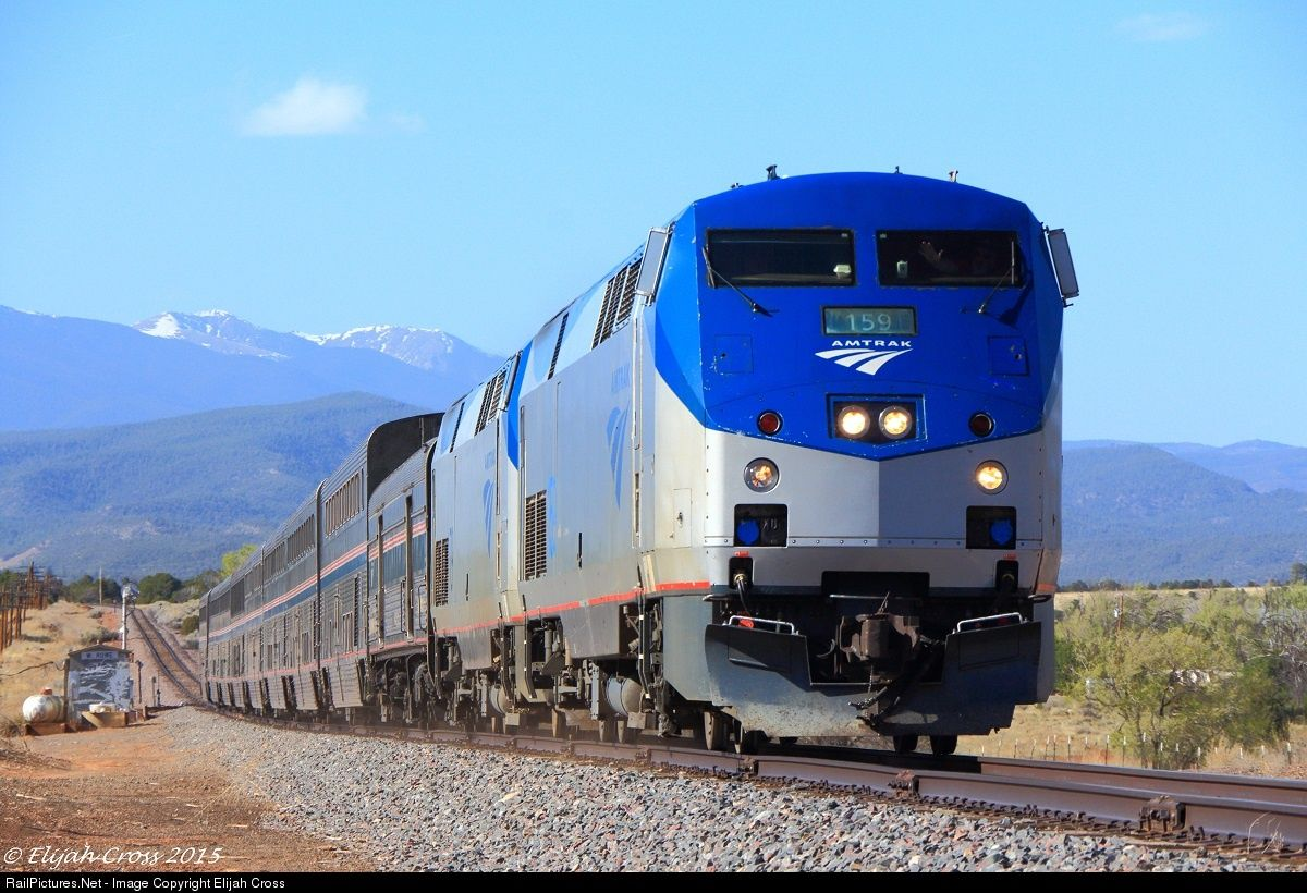 RailPictures.Net Photo: AMTK 159 Amtrak GE P42DC at Rowe, New Mexico by Elijah Cross