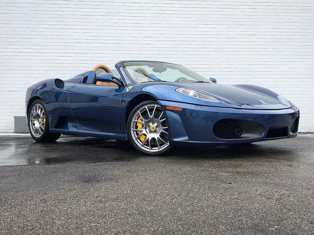 New Car Alert 2009 Ferrari F430 Spider In Blue Mirabeau With Tan