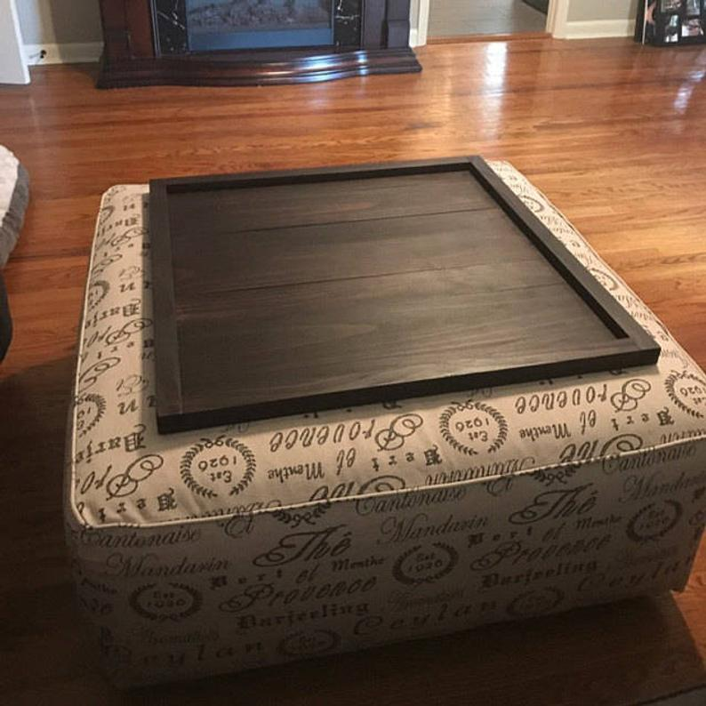 Square Ottoman Tray Table Top Etsy In 2020 With Images