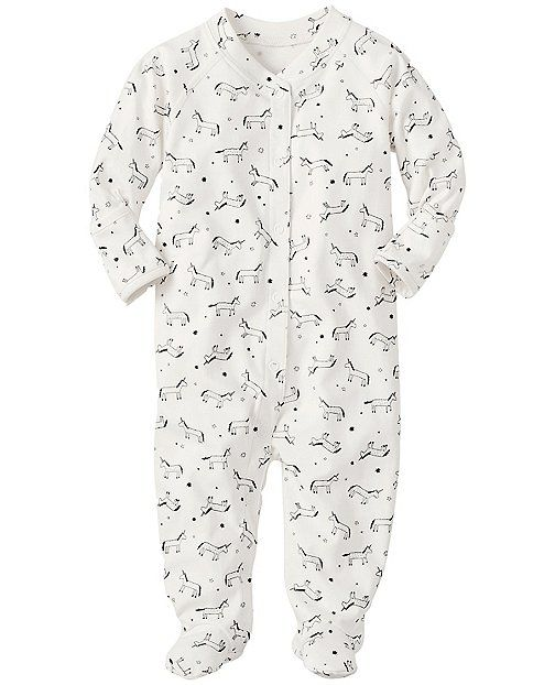 bc80572950ec Little Sleepers With Feet In Organic Pima Cotton from ...