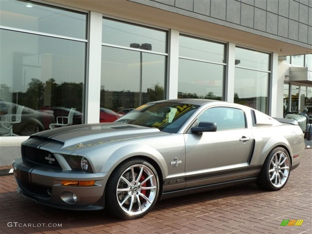 2009 mustang shelby gt500 super snake coupe vapor silver metallic black black photo