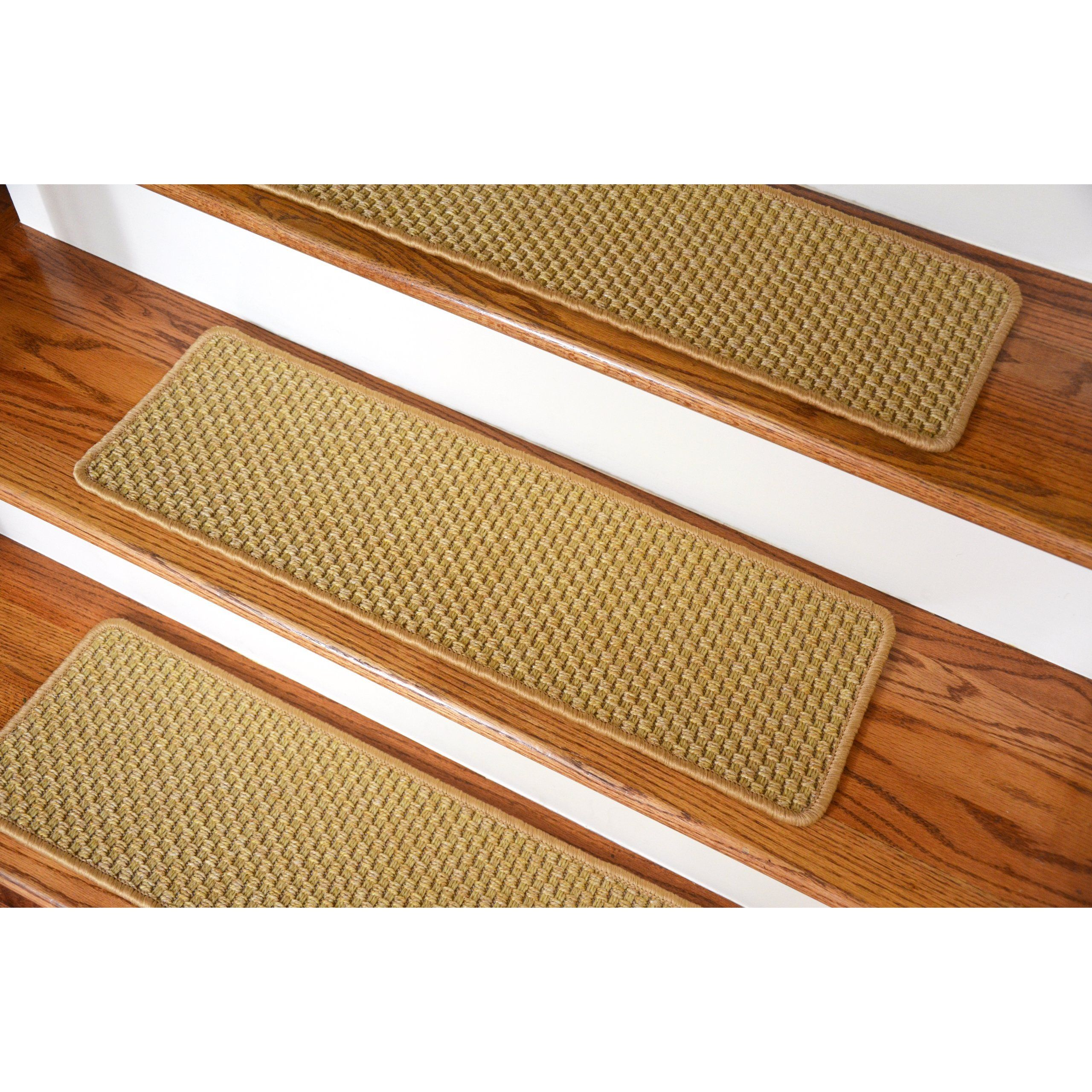 Dean Flooring Company Dean Indoor Outdoor Flatweave Carpet Stair | Dean Flooring Stair Treads | Fiber Sisal | Bullnose Wraparound | Stick Bullnose | Sisal Carpet | Washable Non