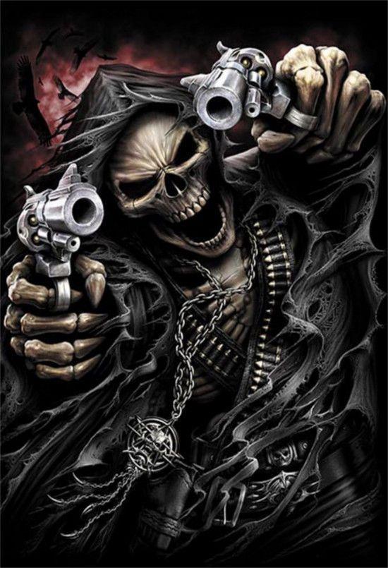 Grim Reaper Assasin Skull Vinyl Decal Sticker Motorcycle Tank - Motorcycle stickersmotorcycle stickers ebay
