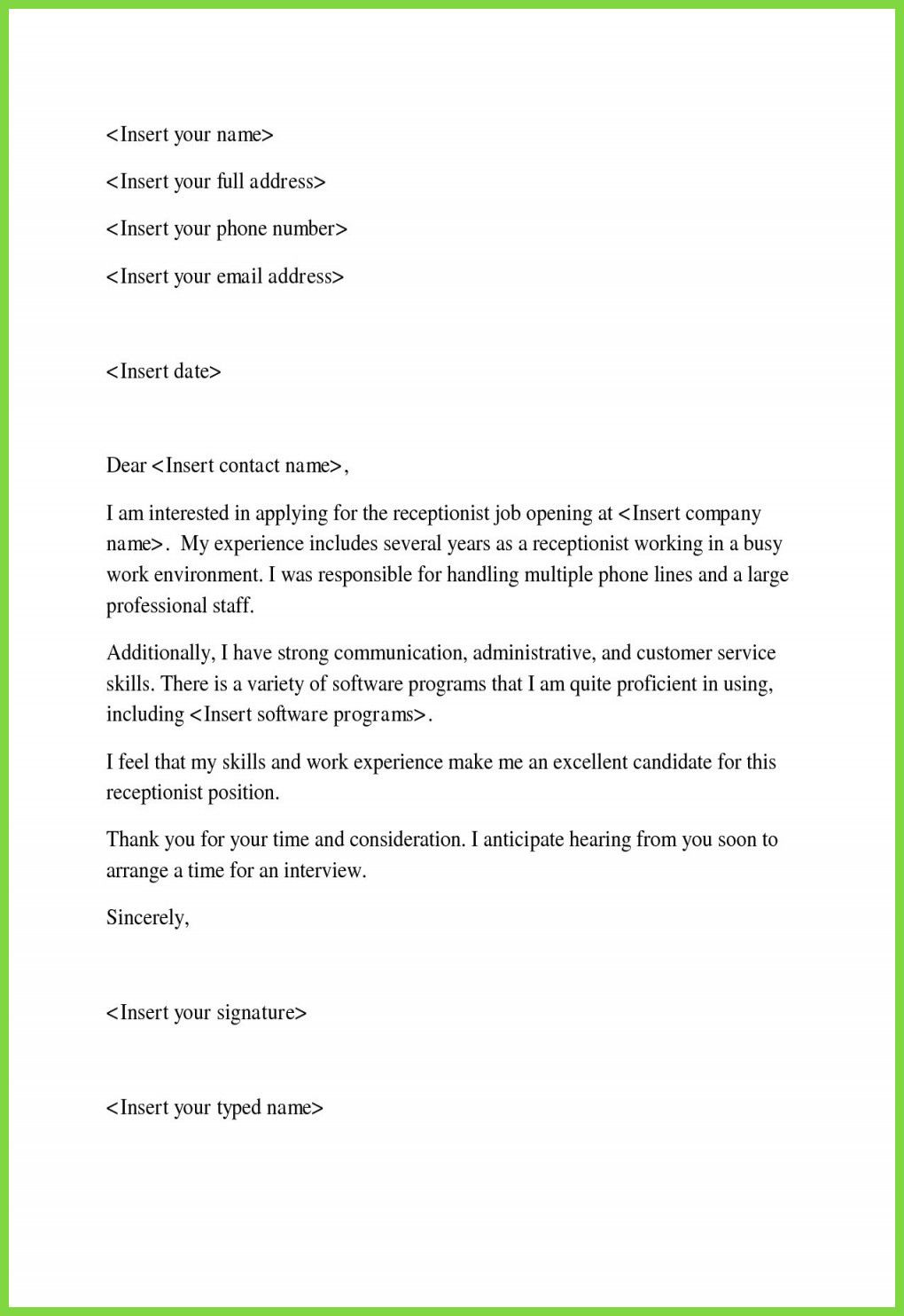 30 Cover Letter Sample For Job Application In 2020 Cover Letter