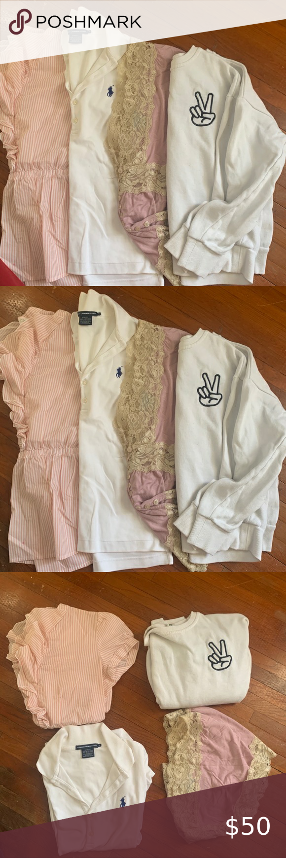 Forever 21/ polo Ralph Lauren bundle of shirts Needs a new home 🏡 Make an offer please!  Please see photos for me info  I am happy to answer and qu…