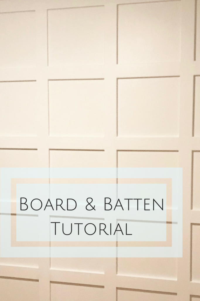 Board and Batten Accent Wall Tutorial #boardandbattenwall