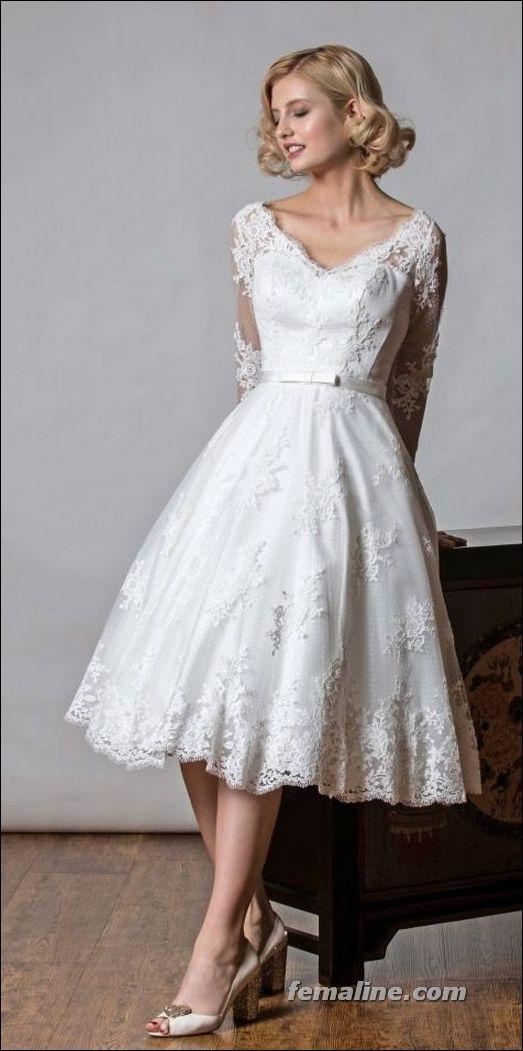 111 Elegant Tea Length Wedding Dresses Vintage Tea Length Wedding Dress Vintage Polka Dot Wedding Dress Tea Length Wedding Dress
