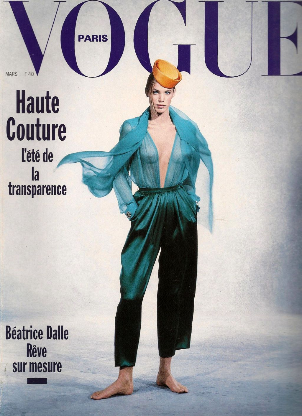 1989 - Yves Saint Laurent Couture ensemble Vogue Cover