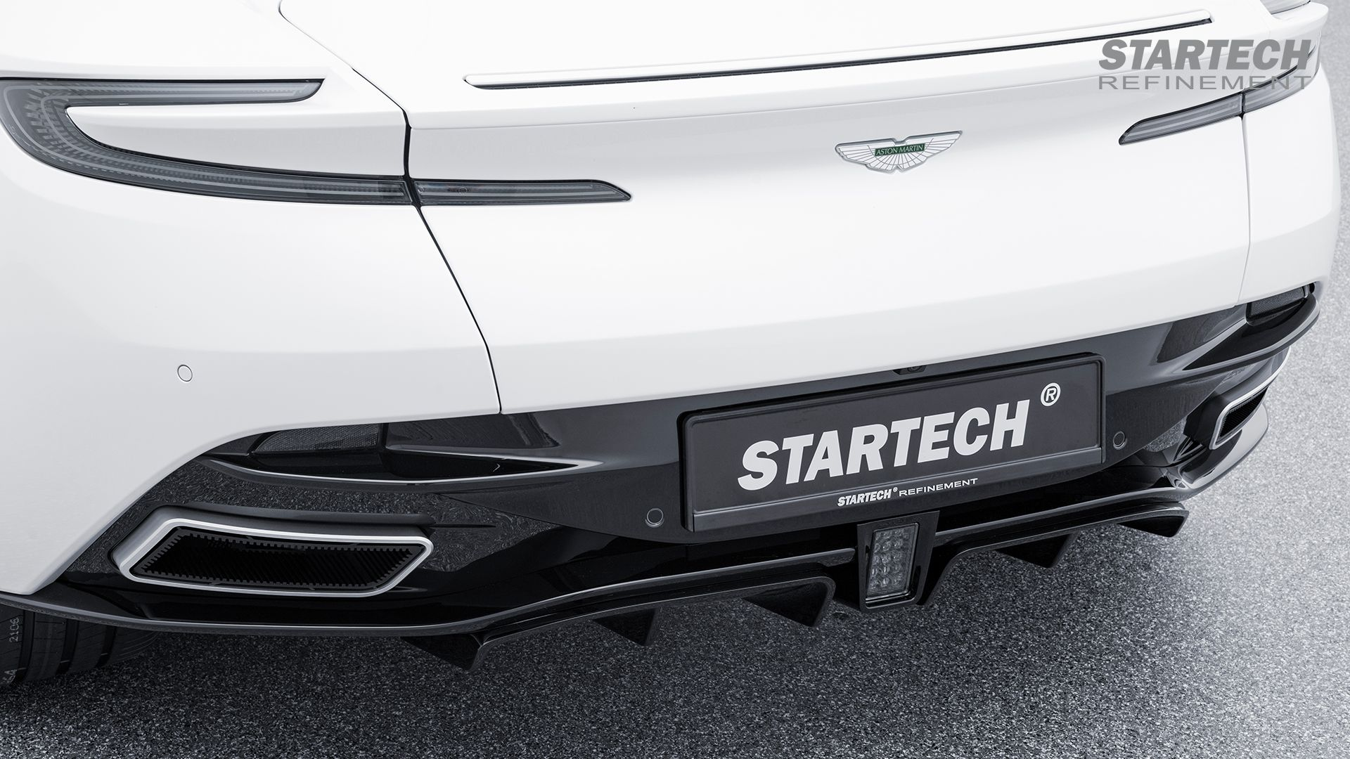 Startech Rear Diffusor And Exhaust Tips For Aston Martin Db11 Aston Martin Db11 Aston Martin High End Cars