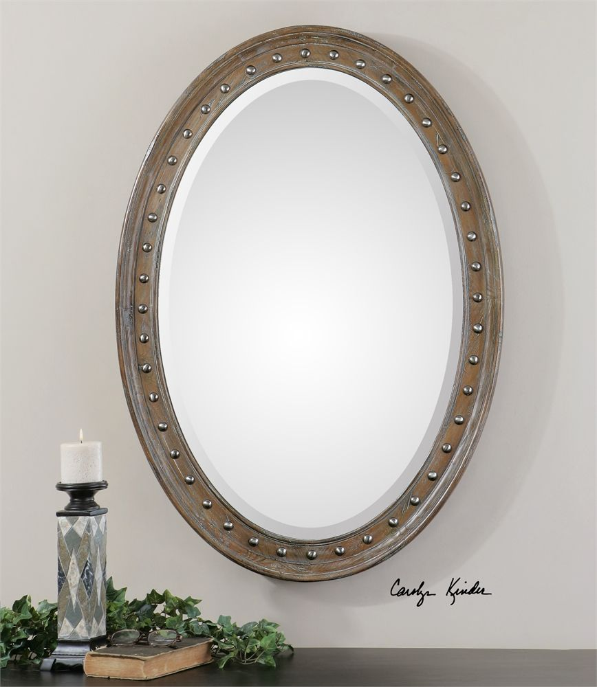 Image Gallery For Website  W X H X D in Uttermost Sylvana Oval Mirror