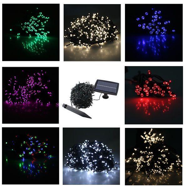 60/100/300/400/500 LED Solar Powered Fairy String Light Christimas Garden Party  #AGPtek