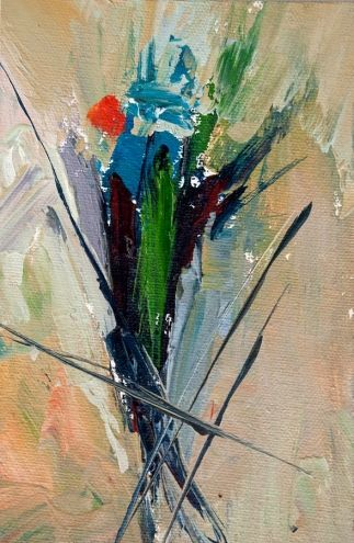 KMA2778 Soul's Pleasure by Colorado artist Kit Hevron Mahoney 4x6, oil, abstract, painting by artist Kit Hevron Mahoney