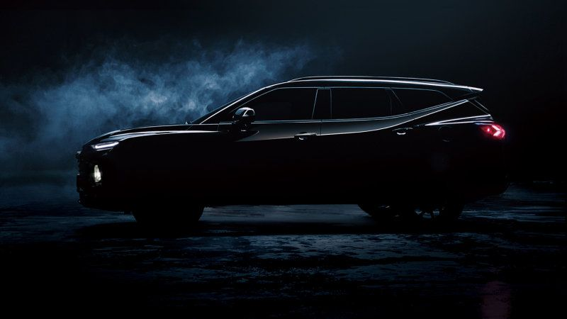 Chevy Teases Three Row Chinese Blazer Ahead Of Friday Reveal With