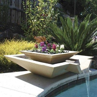 Fuentes minimalistas de cscp Minimalistas, Ideas para jardin y Peceras