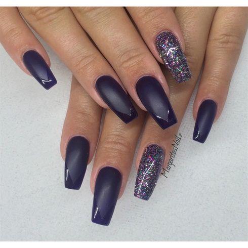 matte coffin nailsmargaritasnailz from nail art
